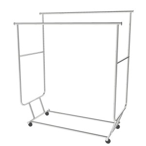Rolling Rack With Double Hang Rail