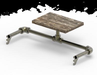 Wooden Shelf With Hangbar