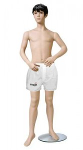 Fiberglass Boy Mannequin With Metal Base