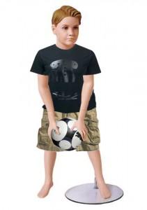 Fiberglass Boy Mannequin With Metal Base