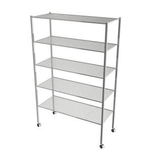 Wire Shelving Unit With 5 Shelves