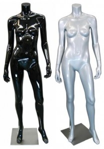 Headless Female Mannequin With Metal Base
