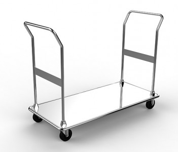Chrome Luggage Cart