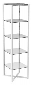 Etagere With Glass Shelves
