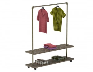 Vintage Clothes Rack