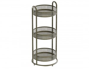 Free Standing Tiered Basket Unit