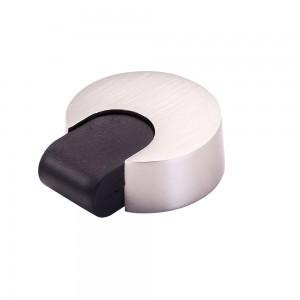 Round Floor Mounted Door Stopper-Satin Nickel