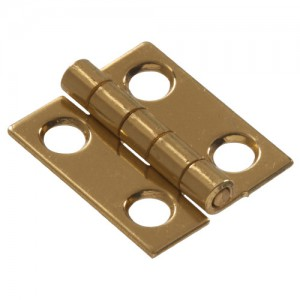 Narrow Hinges Solid Brass 3/4""