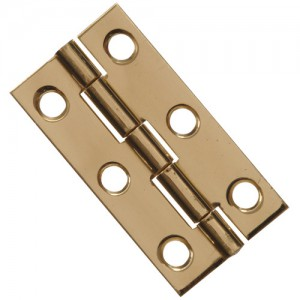 Narrow Hinge Solid Brass 2""