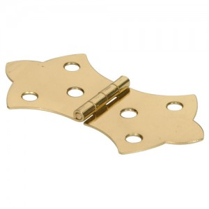 Decorative Hinge Solid Brass 1-5/16""