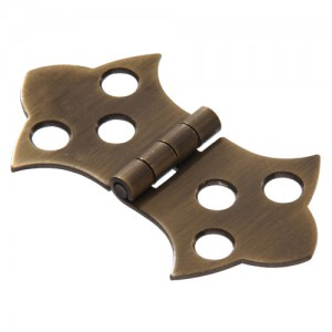 Ornamental Hinge solid Brass 1-11/16""