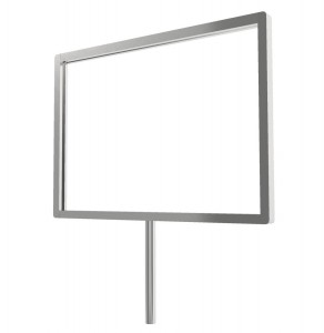 Sign Holder With 3 Wedge Stem