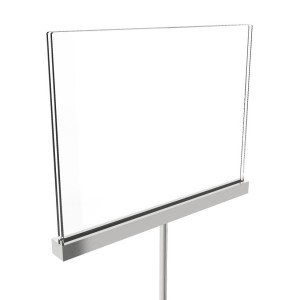 Acrylic Sign Holder With Metal Channel